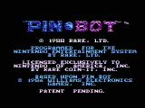 Pin-Bot NES Title screen