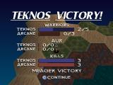 The Unholy War PlayStation Teknos victory
