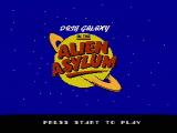 Dash Galaxy in the Alien Asylum NES Title screen