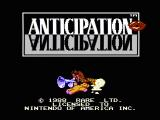 Anticipation NES Title screen