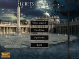 Secrets of the Vatican: The Holy Lance Windows Main menu