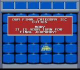 Jeopardy! Sports Edition SNES The final category