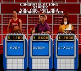 Jeopardy! Sports Edition SNES Proclaiming the winner of the game