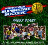 International Superstar Soccer Deluxe PlayStation Title screen.