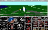 Microsoft Flight Simulator (v3.0) DOS Chaseplane view (MCGA 320x200 256 color)