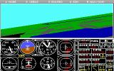 Microsoft Flight Simulator (v3.0) DOS Plenty of fields here (EGA 320x200 16 color)