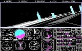 Microsoft Flight Simulator (v3.0) DOS Night flying (CGA 320x200 4 color)