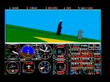 Microsoft Flight Simulator (v3.0) DOS Flying around (CGA Composite mode)