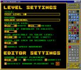 Rocks 'n' Diamonds Linux Level editor, level settings