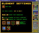Rocks 'n' Diamonds Linux Level editor, element settings