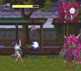 Kishin Dōji Zenki FX: Vajra Fight PC-FX Some boss battles dynamically change the scenery. Now we are outside, and I hit you with my energy ball!