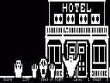 13 Ghosts TRS-80 Different buildings scroll from right to left here is the Hotel
