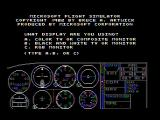 Microsoft Flight Simulator (v1.0) PC Booter Title screen (CGA Composite mode)