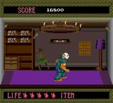 Splatterhouse TurboGrafx-16 Stage 2 boss-- a haunted room