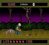 Splatterhouse TurboGrafx-16 Stage 3 introduces the shotgun and the demon dogs