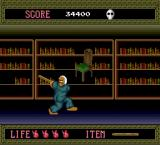 Splatterhouse TurboGrafx-16 Stage 5 starts off in a library