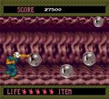 Splatterhouse TurboGrafx-16 Starting out in level 6-- these bubbles hatch into parasitical monsters