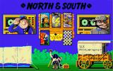 North & South Amiga Main menu (for a gimmick, try clicking on the photographer's butt).