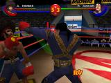 Ready 2 Rumble Boxing: Round 2 PlayStation Michael Jackson punching the face of Afro Thunder.