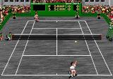 Pete Sampras Tennis Genesis serving.. hard court