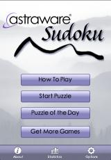 Astraware Sudoku iPhone Title Screen