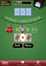 Astraware Casino iPhone Three-Card Poker
