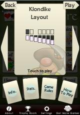 Astraware Solitaire iPhone Game Info screen