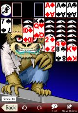 Astraware Solitaire iPhone Klondike with Halloween graphics