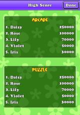 Crazy Daisy iPhone High Scores screen