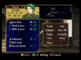 Fire Emblem: Path of Radiance GameCube In Outfit, you can manage your troops.