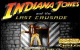 Indiana Jones and the Last Crusade: The Action Game Amiga Title screen.