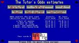Amarillo Slim Dealer's Choice DOS tutorial/odds info screen