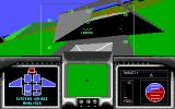 David Wolf: Secret Agent DOS Flying through a hanger to shake a missile. (EGA/Tandy)