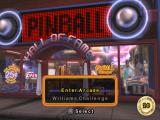 Pinball Hall of Fame: The Williams Collection PlayStation 2 Main menu