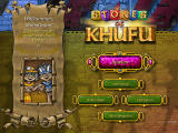 Stones of Khufu Windows Main menu (demo version)