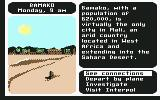 Where in the World is Carmen Sandiego? Commodore 64 Mali.