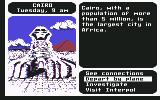 Where in the World is Carmen Sandiego? Commodore 64 Egypt.