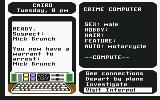 Where in the World is Carmen Sandiego? Commodore 64 Warrent issued for arrest of Nick Brunch.