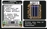 Where in the World is Carmen Sandiego? Commodore 64 Tried making an arrest without a warrent...