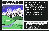 Where in the World Is Carmen Sandiego? Commodore 64 Nepal.