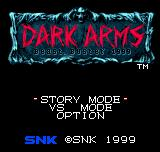 Dark Arms: Beast Buster 1999 Neo Geo Pocket Color Title screen