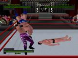 WWF Attitude PlayStation Custom character fighting.