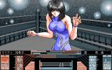 Wrestle Angels V1 PC-98 Another opponent. Looks like she is on drugs or something :)
