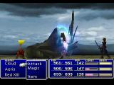 Final Fantasy VII PlayStation The party battles a giant sandworm in a desert area