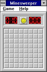 Minesweeper Windows 3.x Starting game (Win16 version)