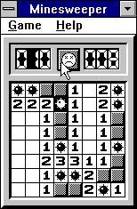 Minesweeper Windows 3.x Monochrome mode