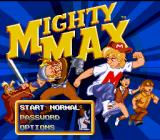The Adventures of Mighty Max SNES Main title screen