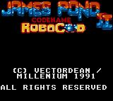 James Pond 2: Codename: RoboCod Game Gear Main title screen