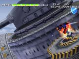 Strider 2 PlayStation Destroying a turret.