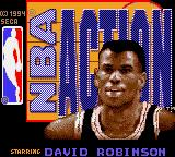 NBA Action Starring David Robinson Game Gear Main title screen